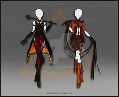 (CLOSED) Adoptable Outfit Auction 51-52 by JawitReen
