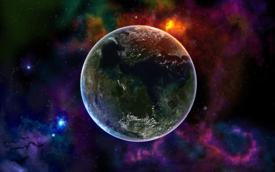 Space A Small Planet by mykeeX