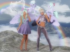 My Little Pony (Flitter and Cloudchaser) by Axel-Doi