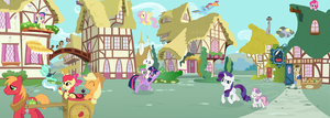 Morning in Ponyville by JoeMasterPencil