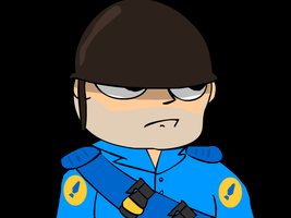 Tf2 soldier (BLU) by ilumintor
