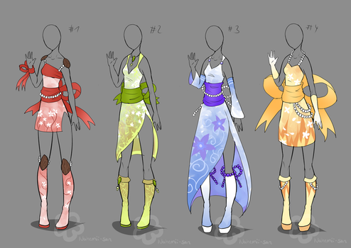 Kimono Inspired Outfits - sold by Nahemii-san