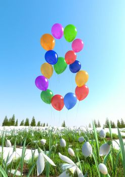March 8 and balloons by denisogloblin