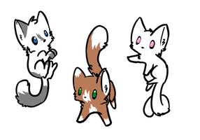 Adoptable Kittens 3! by blackyball22
