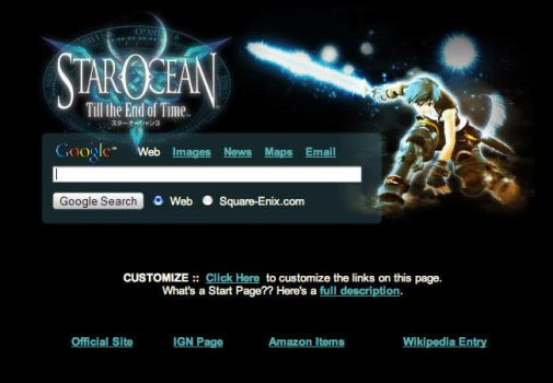 Star Ocean Startpage by AwesomeStart