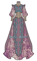 Fantasy dress adopt CLOSED by vicifashion