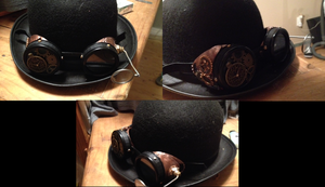 Steampunk Hat with Goggles by Courtylyn