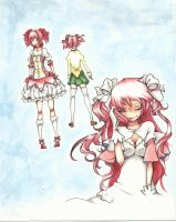 The different forms of Kaname Madoka by carlyFMA