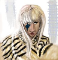Lady Gaga Caricature by DoodleArtStudios