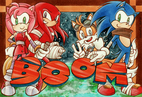 Sonic the Hedgehog : BOOM by Tiara-C