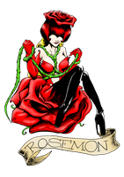 Rosemon tattoo color by MystressCrowler