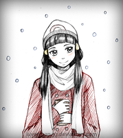 Snowfall and Hot Chocolate by AntiqueCrown