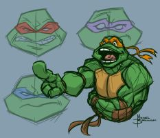 TMNT warm up sketch by MBorkowski
