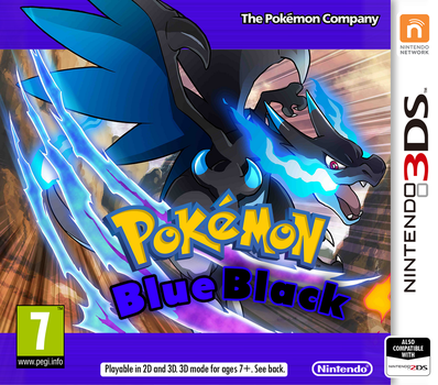 Nintendo 3DS Pokemon BlueBlack Cover by PatrickWCity