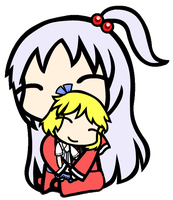 Shinki Hugging Alice by Reimu-and-Cirno
