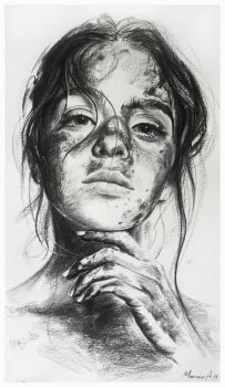 charcoal portrait by AndriyMarkiv