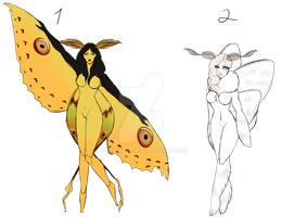 Moth Girl Auction [CLOSED] by Boybites
