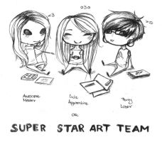 SUPER STAR ART TEAM by ellegial