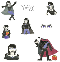 Halloween Holly artdump by Mysticalblackangel