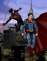 Ultimate Spider-man and Earth One Superman by SUPERMAN3D
