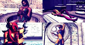 Jade, Mileena, Scarlet and Kitana. by MistressNasty