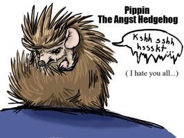Pippin the angst hedgehog by razorcat