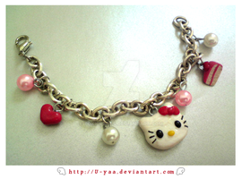 Hello kitty bracelet by TokiCrafts