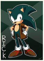 PC Rick the Hedgehog by Domestic-hedgehog