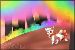 A walk through the rainbow forest by snowflake95