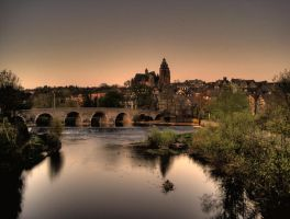 HDR Lahn Bridge and Cathedral by Rayquin