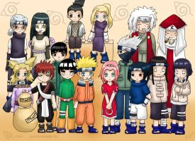 Naruto Chibi Group by Piyu