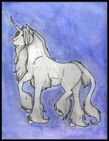 Original: Watercolor and Ink Unicorn 2015 by AirRaiser