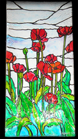 Poppies Stained glass by IngwellRitter