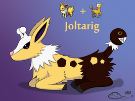 Pokemon Fusion - Joltarig by The-Emerald-Otter