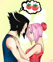 SasuSaku .:Tomatoes:. by Massybeast