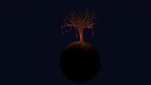 Autumn Tree - Night by Exherion