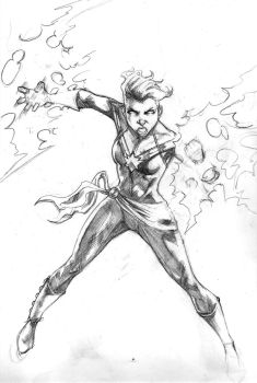 Captain Marvel Pencils by nathancyounger