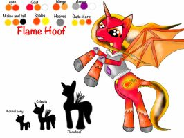 My Bad-ish OC, Flame Hoof. by Peach-the-mouse