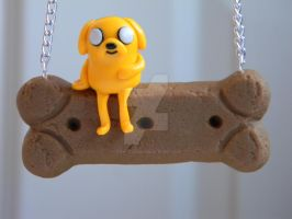 Jake the Dog Necklace-Polymer clay-Adventure Time by ThePetiteShop