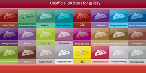 Unofficial dA Gallery icons by bheware