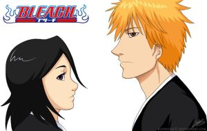 Ichigo and Rukia by BlueRose177