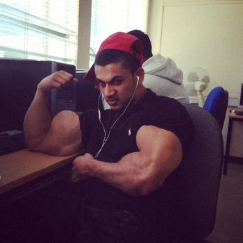 Musclemorphed British Asian Hunk2 (1) by free42dream