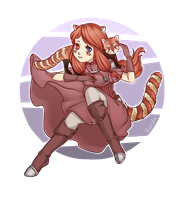The Red Panda Girl by Astral-Chan