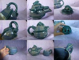Dragon Teapot and Cup by ssbbforeva