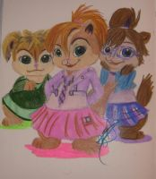 The Chipettes V.2 by hedgiegirl