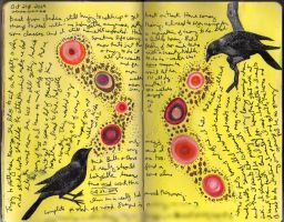 Art Journal - Bird Circles by QueenofCupcakes