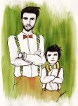 F.I. Challenge - Father  and Son by LaraInPink