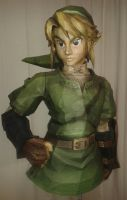 assembly: life size Link papercraft: torso by minidelirium