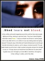 .Shed tears not blood. by Lotte-Mae