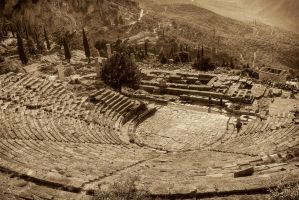 Greece - Delphi - Theatre - 01 by GiardQatar